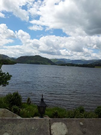 Sharrow Bay: Lake Ullswater view from the Dining Room & Hotel Terrace