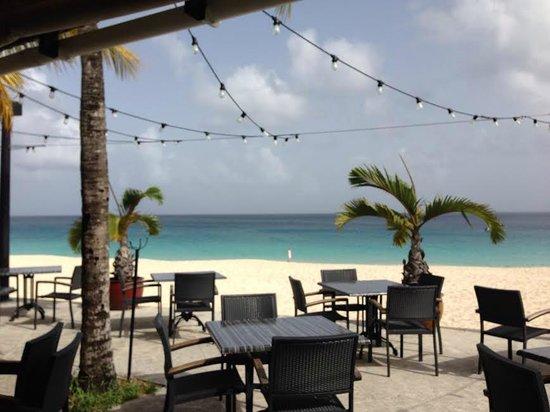 Frangipani Beach Resort : View from the Straw Hat