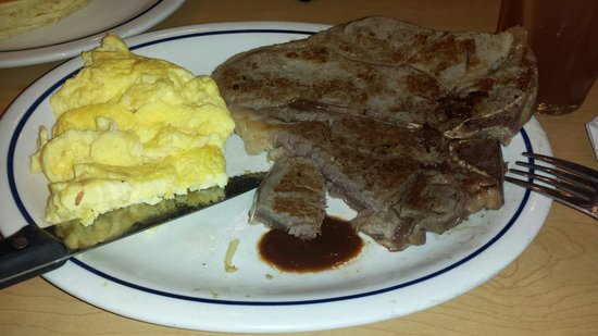 IHOP: The famously uncooked tbone. Didn't taste right. came back to the table with a short black hair