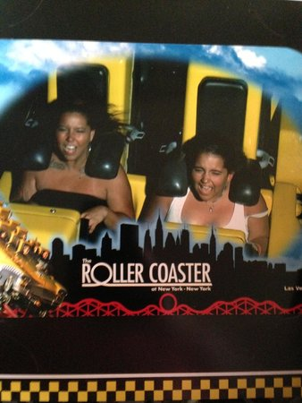 The Big Apple Coaster & Arcade: Pictures avail at end of ride.  Here's ours! Dont laugh :)