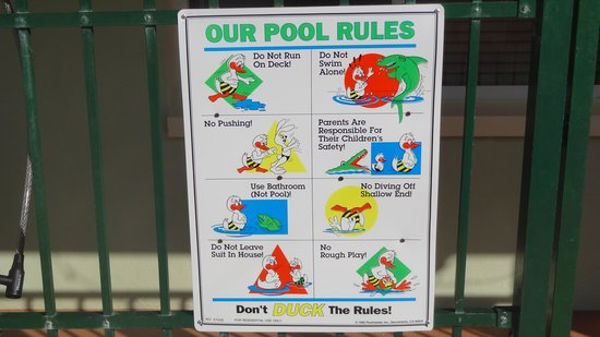The Hotel Sol: pool rules