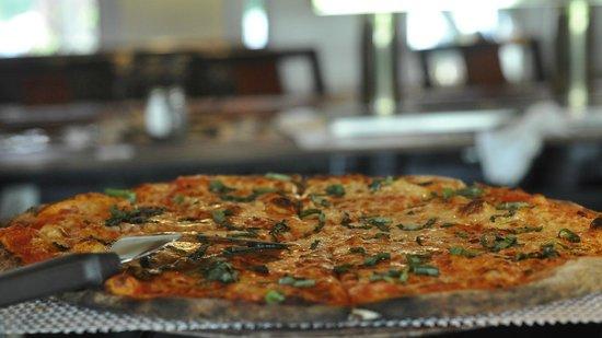 Angela's Coal Fired Pizza: Garlic Pizza at Angela's