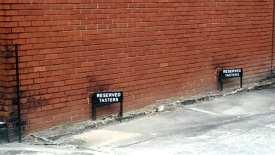 Jack Daniel's Distillery: Tasters' Reserved Parking