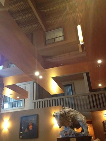 Sawridge Inn and Conference Centre Edmonton South: looking up at rooms from the resturant