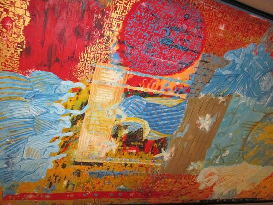 John F. Kennedy Center for the Performing Arts: Painting on Wood in Israeli Lounge