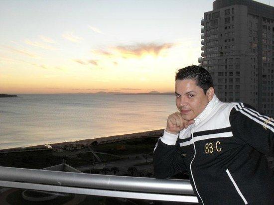 Conrad Punta del Este Resort & Casino: atardecer desde la habitacion