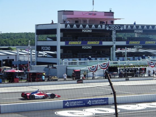 Pocono Raceway View Of Building Across From Seats