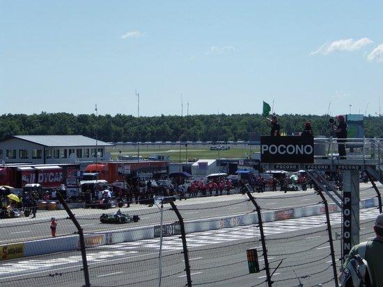 Pocono Raceway: View of track