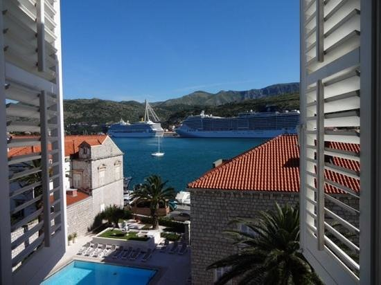 Hotel Lapad: the view from the bridal suite