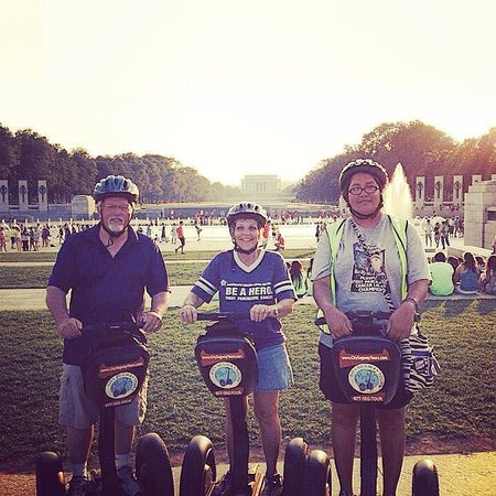 City Segway Tours DC : Purple PanCan people from Oklahoma! Loved our tour and well worth the cost!