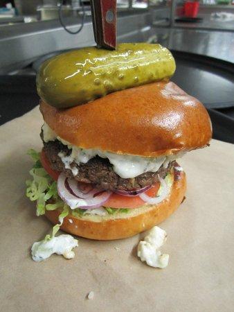 Buttonwood Grill: Mediterranean burger.