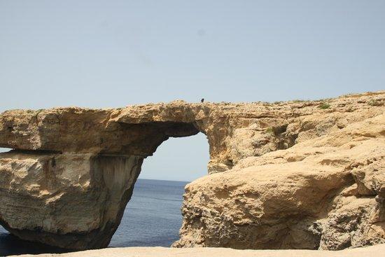 Ilha de Gozo, Malta: The Azure Window is a Limestone natural arch on the Maltese island of Gozo.