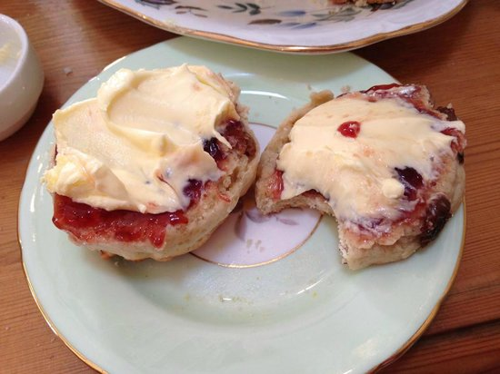 Elsies Traditional Tea Room: scone with cream and jam, yummy!