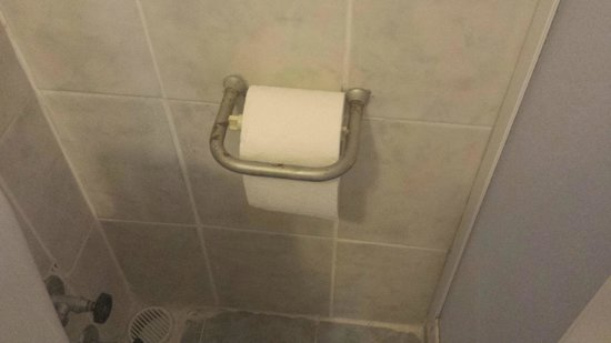 Albatros Apartments: rusty and dirty toilet facilities