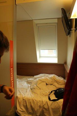 easyHotel Berlin Hackescher Markt: habitación pequeña easy hotel piso 5ª