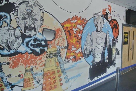Doctor Who Experience Cardiff Bay: decoration de l'entrée
