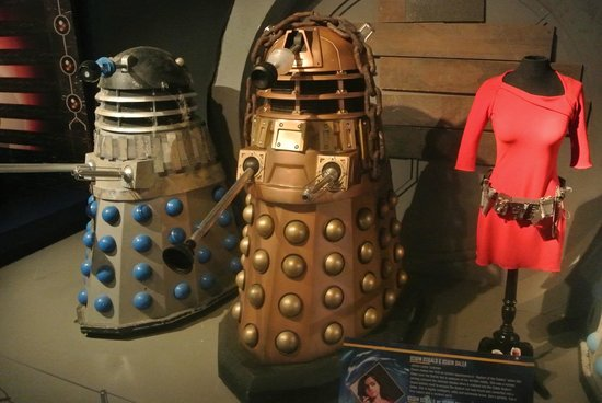 Doctor Who Experience Cardiff Bay: daleks + amy pond costume