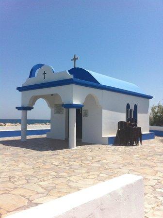 Sun Palace Hotel : lovely little church faliraki harbour