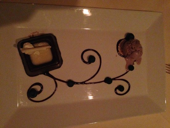 Mountain View Grand Resort & Spa: Flourless Chocolate Cake at The Wine Cellar Dinner