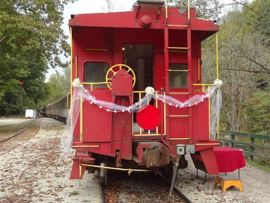 Big Wesser Brew & BBQ: A couple got married riding the train today!