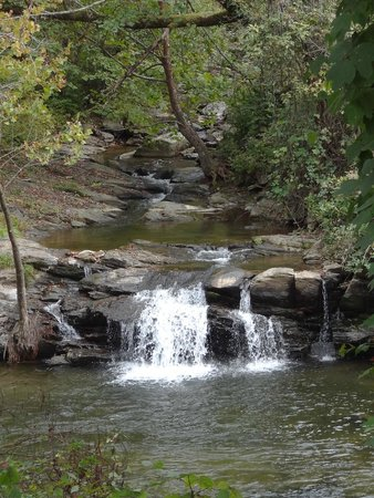 Big Wesser Brew & BBQ: A waterfall close by the restaurant!
