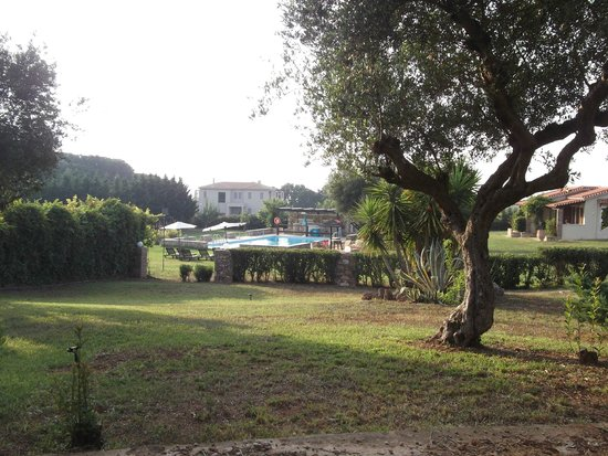 Villa Georgina: Διαδρομή προς την πισίνα-Αυλή