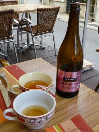 La Gourmandine : Très bon cidre rosé normand