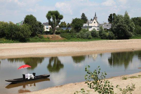 Restaurant Le Bosquet proche d'Angers : View from outdoor restaurant