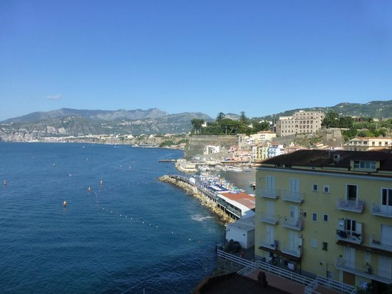 Hotel Admiral Sorrento : View from our balcony - partial sea view