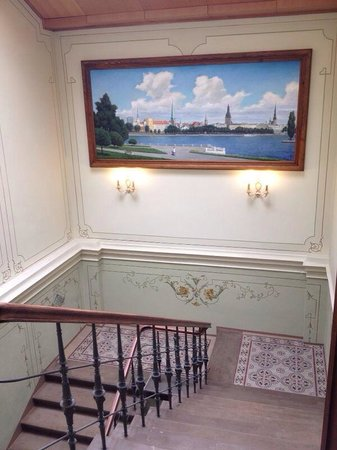 Gallery Park Hotel & Spa, a Chateaux & Hotels Collection: Nice painting of Riga at Gallery Park Hotel!