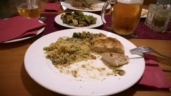 Tulip Restaurant : grilled chicken and couscous: quite good...