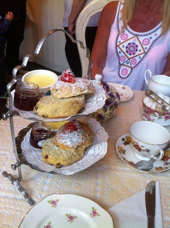 Lavender Tea Rooms: Our lovely cream tea