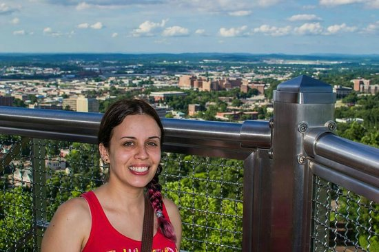 Vulcan Park and Museum: Me with the city in the background
