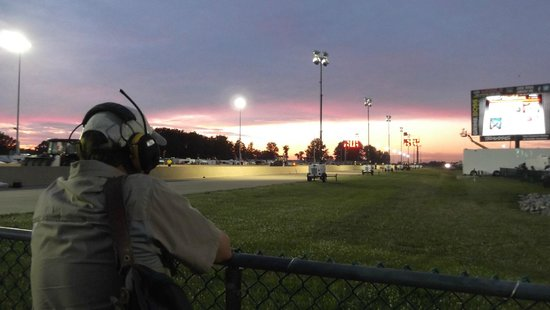 Summit Racing Equipment Motorsports Park: some sunset beauty, even here at the finish line.