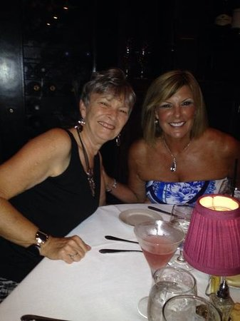 Mark's Prime Steakhouse and Seafood: flo and Barbara enjoying dinner at Marks.
