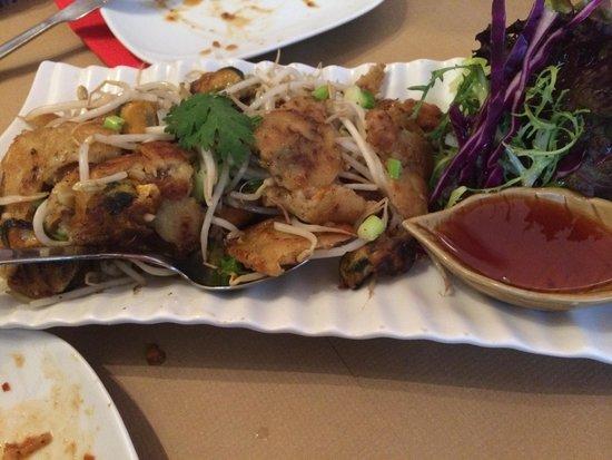Bangkok Cafe: Mejillones salteado en salsa Bangkok Café