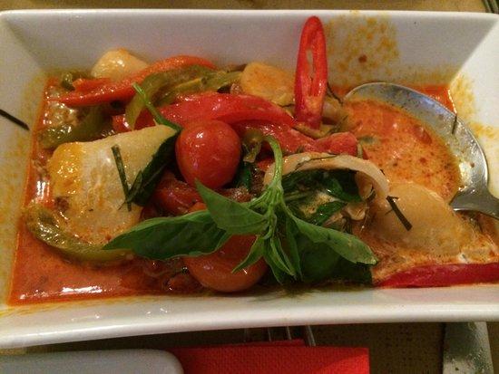 Bangkok Cafe: Curry de pato con lichis