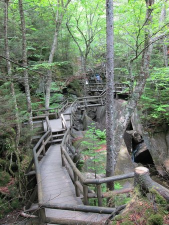 Lost River Gorge and Boulder Caves: Extensive boardwalk through the gorge