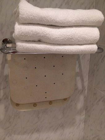 Galway Bay Hotel : The towels are clean. The shower mat....vintage?