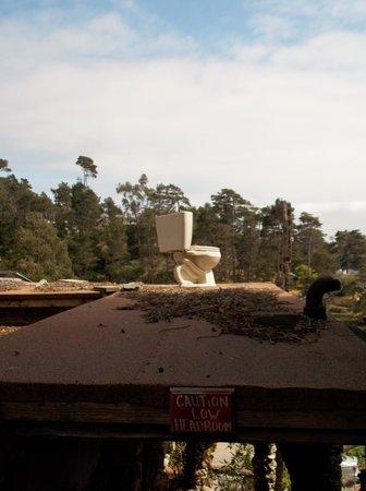 Nitt Witt Ridge: Toilet on the roof