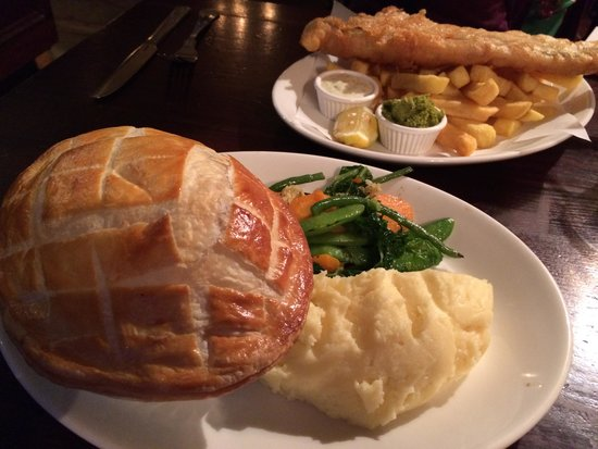 Chicken pot pie fish and chips picture of the ship for Fish pot pie