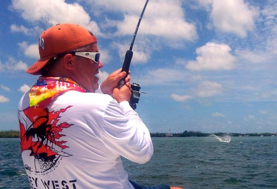 AWS Charters, Key West Flats Fishing: The only pic of the Tarpon we got as it was jumping