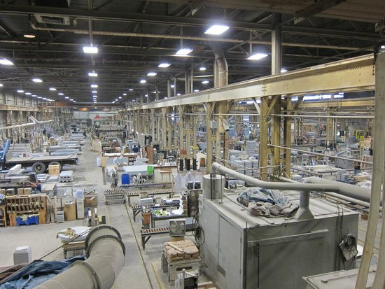 Rock of Ages: Factory interior