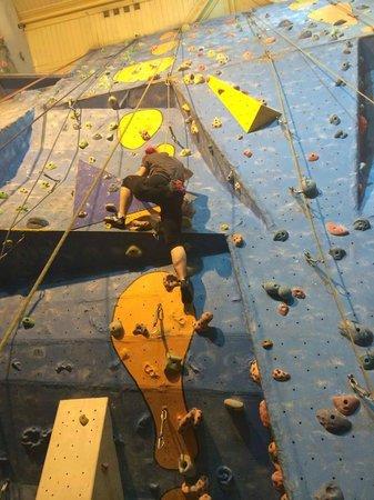 Alien Rock: Mid climb - top rope