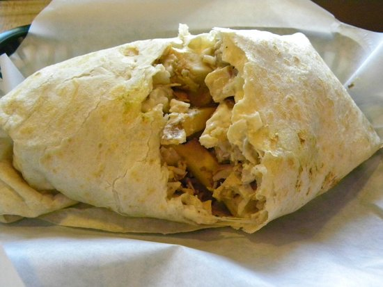 Jalisco Grill: Burrito with french fries inside!