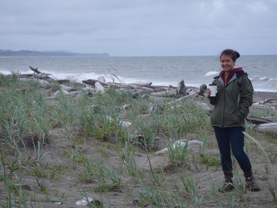 Haida House at Tllaal : Great beachcombing just a short walk away from the hotel