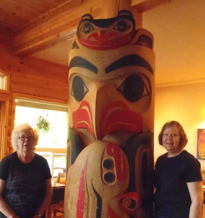 Haida House at Tllaal : Authentic Art inside the dining room