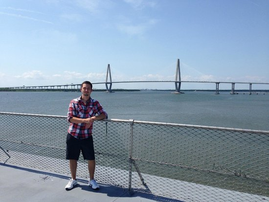 Arthur Ravenel Jr. Bridge: View From Yorktown Flight Deck
