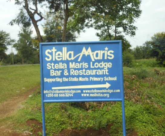 Stella Maris Lodge: welcome sign!