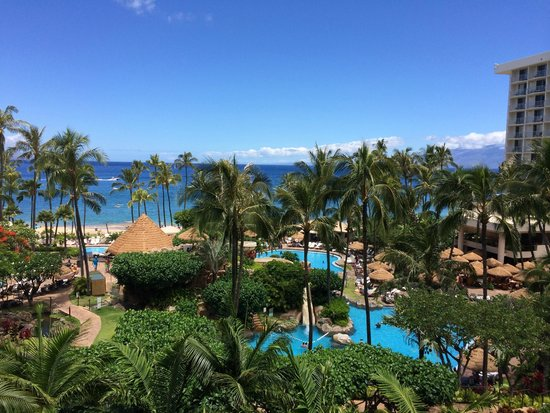Westin Maui Resort And Spa: View from our room, 6th floor ocean tower